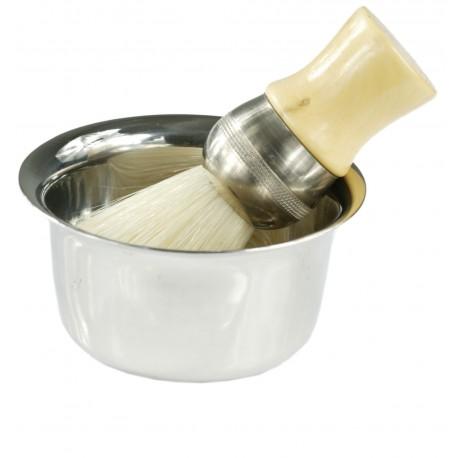 Bol IRLAND inox pour crème a raser