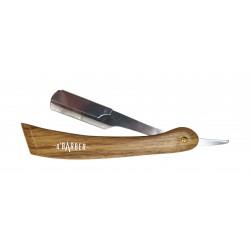 Rasoir manche en bois naturel O'BARBER